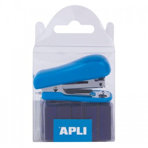 Συρραπτικό Τσέπης Apli Με 2000 Σύρματα Μπλε 14940