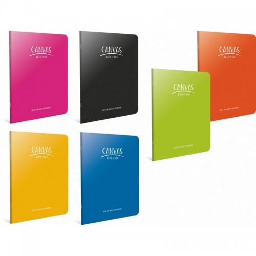Τετράδιο Canvas Ριγέ Σε Διάφορα Χρώματα Β5 (40Φ)
