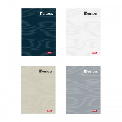 Τετράδιο Ραφτό Notebook Tettris Σε Διάφορα Χρώματα A4 3 Θέματα