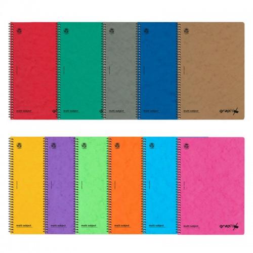 Τετράδιο Σπιράλ Graphix TypoTrust Σε Διάφορα Χρώματα B5 2 Θέματα (60Φ)