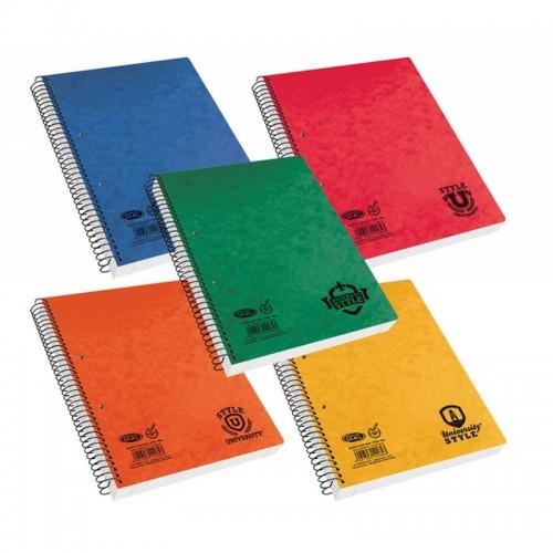 Τετράδιο Σπιράλ University Style Skag Σε Διάφορα Χρώματα Β5 5 Θέματα (150Φ)