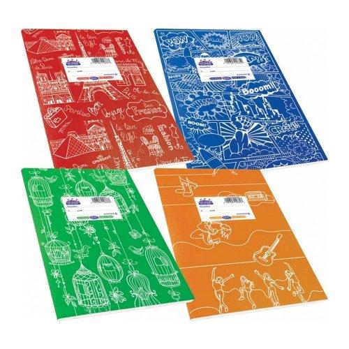Τετράδιο Super Διεθνές Skag Ριγέ 50φ (Διάφορα χρώματα & σχέδια)
