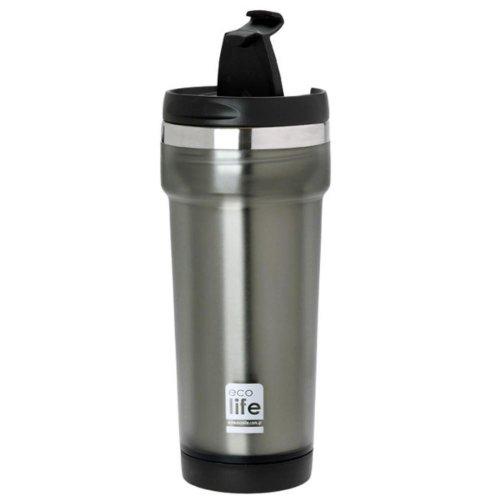 Θερμός ecolife Ανοξείδωτος 420ml Grey 33-BO-4010 - 2